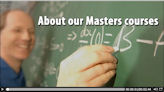 A video detailing the Masters programmes available within the School of Mathematics.